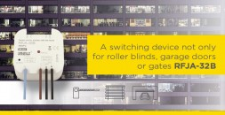 A switching device only for roller blinds, garage doors or gates RFJA-32B solves numerous issues photo