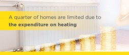 A quarter of homes are limited due to the expenditure on heating.   photo