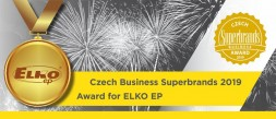 Czech Business Superbrands 2019 Award for ELKO EP from Holešov  photo