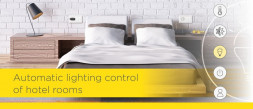Automatic lighting control of hotel rooms photo