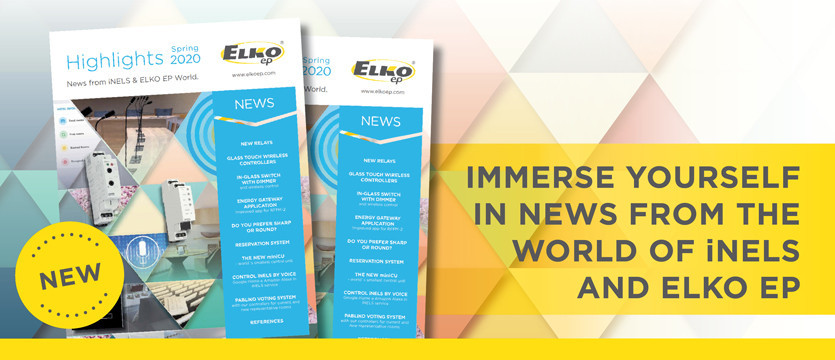 Immerse yourself in news from the world of iNELS and ELKO EP