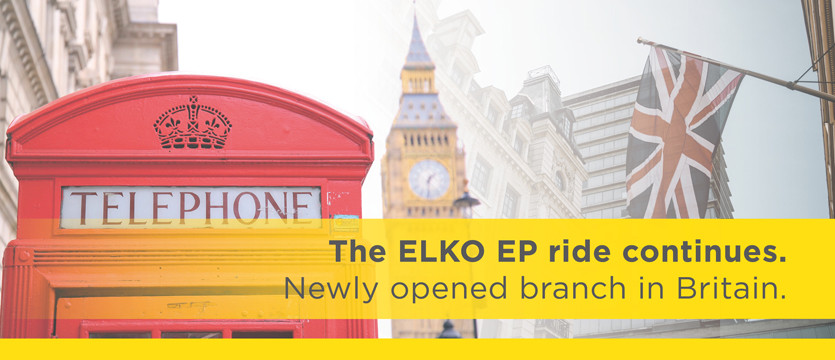 The ELKO EP ride continues. Newly opened branch in Britain.